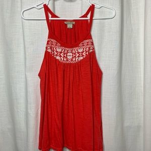 Lucky Brand Embroidered Knit Tank Top - SZ L